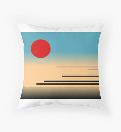 Tokyo Railways Throw Pillow