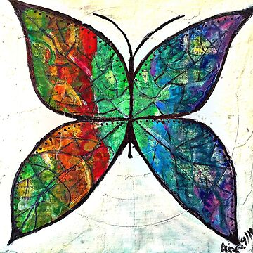 Stained Glass Butterfly by Thecathartist