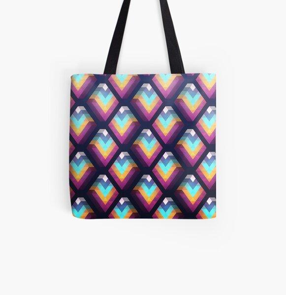 Rhombus All Over Print Tote Bag