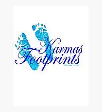 KARMAS FOOTPRINTS (BLUE) Photographic Print