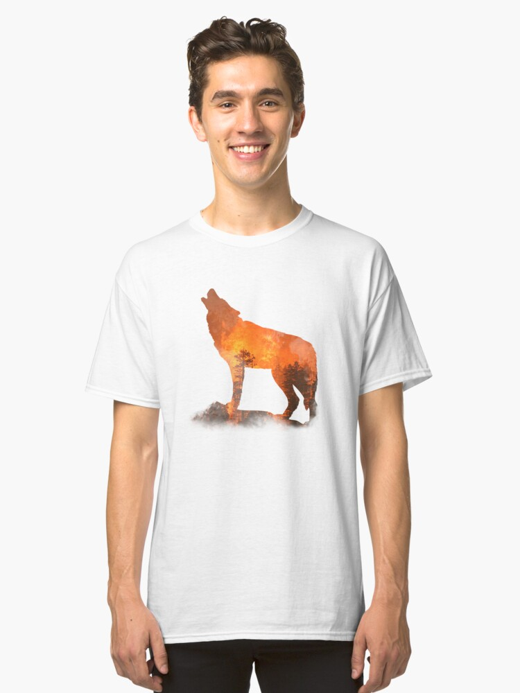 Forest Fire art Classic T-Shirt Front