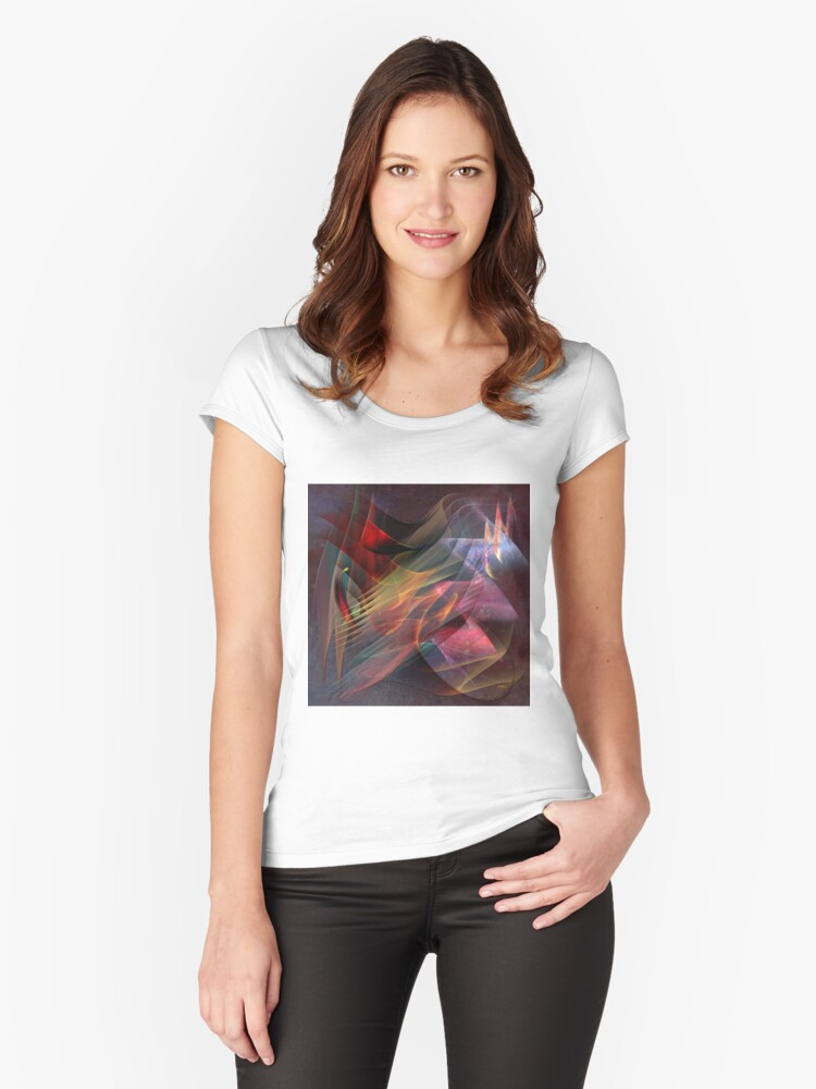 Free Falling, Part 2 (Square Version) - By John Robert Beck Women's Fitted Scoop T-Shirt Front