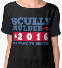 Scully & Mulder Campaign 2016 Chiffon Top