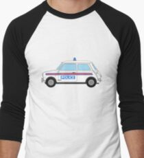 Morris Mini Cooper Police Car Men's Baseball ¾ T-Shirt