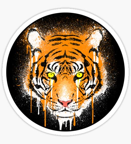 Graffiti Tiger Sticker