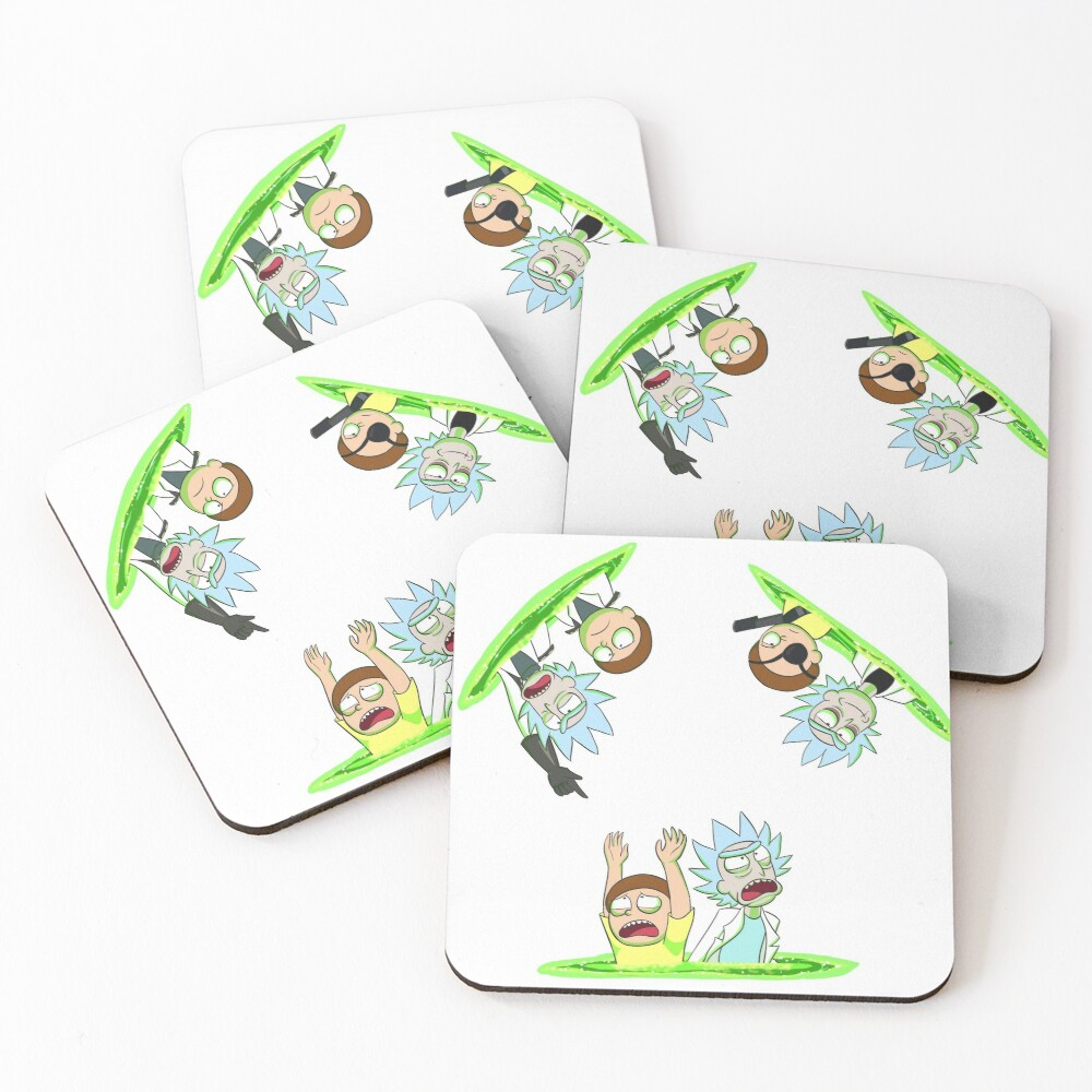Rick and Morty vs Rick and Morty Coasters (Set of 4)