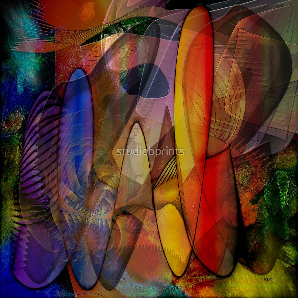 Edge Of Chaos (Square Version) - By John Robert Beck by studiobprints