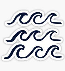 Waves Waves Waves Sticker