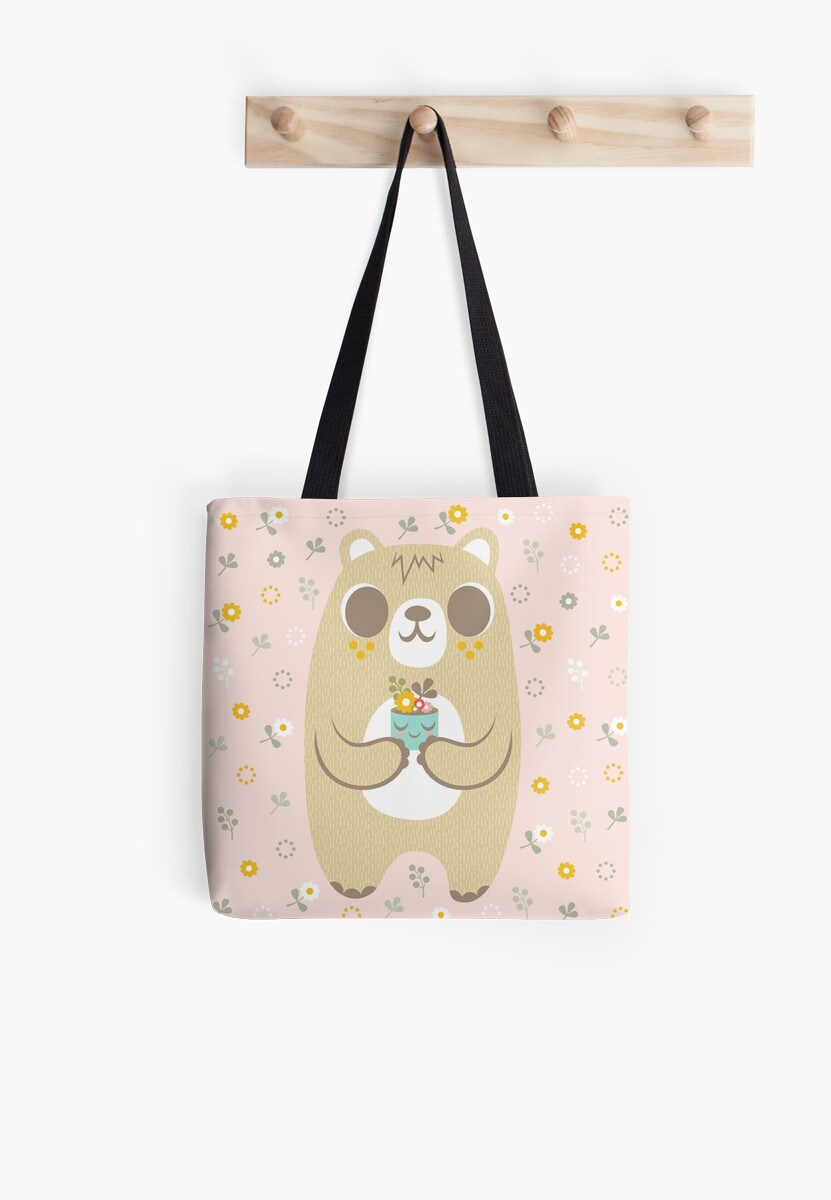 Cute Bear and His Plant by jsongdesign
