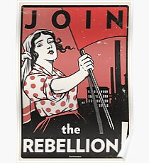 Join the Rebellion! (Vector Recreation) Poster