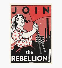 Join the Rebellion! (Vector Recreation) Photographic Print