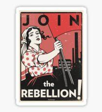 Pegatina ¡Únete a la rebelión! (Vector Recreación)