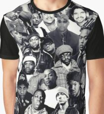 Hip Hop Legends Collage Graphic T-Shirt