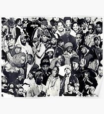 Hip Hop Legends Collage Poster