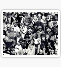 Hip Hop Legends Collage Sticker