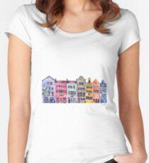 Rainbow Row – Charleston Women's Fitted Scoop T-Shirt