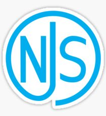NJS stamp (blue print) Sticker