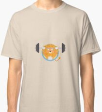 Muscle Lion with weights Classic T-Shirt