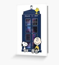 Doctor Who - Charlie Brown Greeting Card