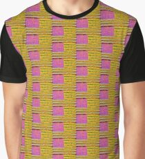 Pink, yellow and green flag appropriated from Jasper Johns Graphic T-Shirt
