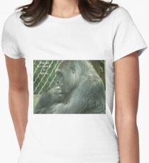 You are not allowed to ape us. Women's Fitted T-Shirt