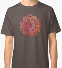Watercolor Medallion in Sunset Colors Classic T-Shirt