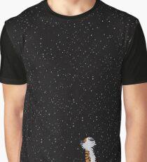 Calvin and Hobbes Stars Graphic T-Shirt