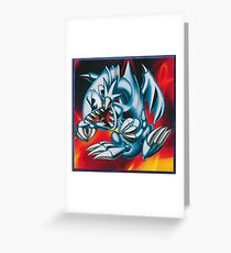 smal blue toon Greeting Card