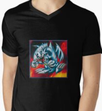 smal blue toon Men's V-Neck T-Shirt