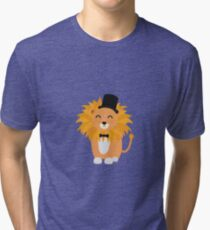 Lion with bow tie  Tri-blend T-Shirt
