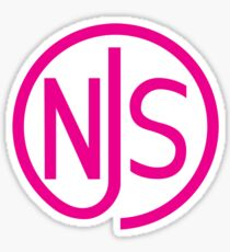 NJS stamp (pink print) Sticker