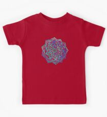 Watercolor Medallion in Ocean Colors Kids Tee