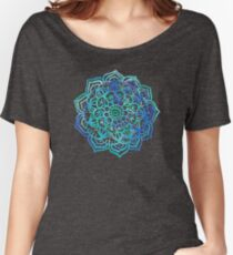 Watercolor Medallion in Ocean Colors Women's Relaxed Fit T-Shirt