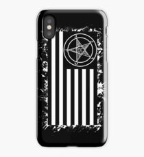 Satanic American Flag iPhone Case/Skin
