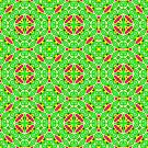 Pink Green and Yellow Abstract Print 03 by Ruth Moratz
