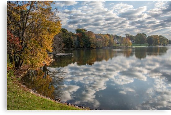 Autumn Reflections on the Lake by Lisa Moore