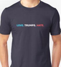 LOVE. TRUMPS. HATE.  Slim Fit T-Shirt