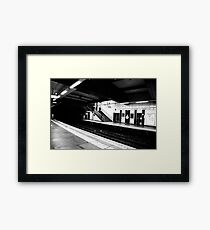 Tube Station Framed Print
