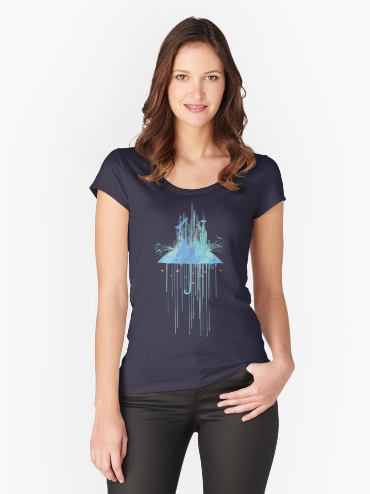 The Feel Of Rain Women's Fitted Scoop T-Shirt Front