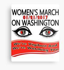 1-21-2017 Women March On Washington, DC Metal Print
