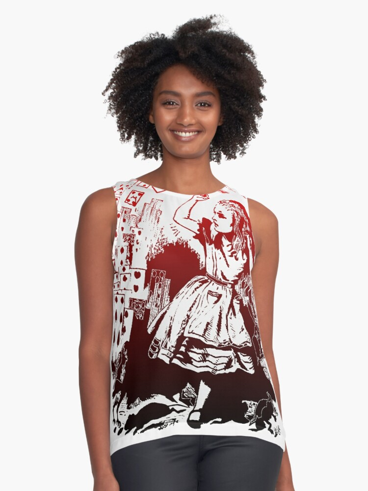 Alice in Wonderland Contrast Tank Front