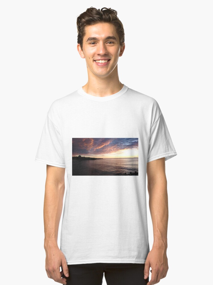sky over the beach before sunrise  Classic T-Shirt Front