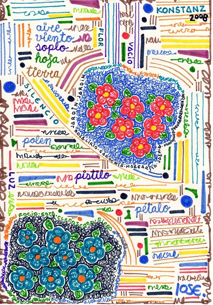 Flowers Words Colors by JoseProductions