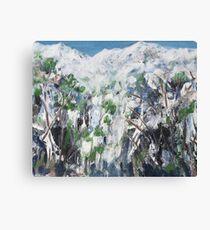 Snow Scene 1 - Abstract Canvas Print