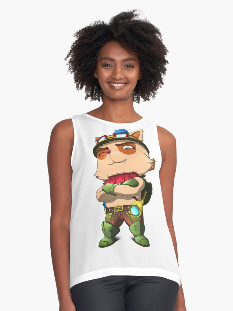 Teemo - Textless Contrast Tank Front