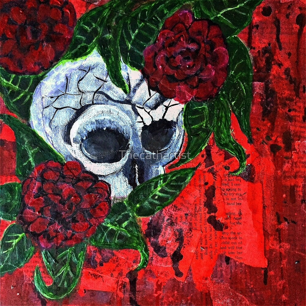 Momento mori with roses by Thecathartist