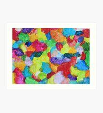 """Magical Gathering"" original abstract artwork by Laura Tozer Art Print"