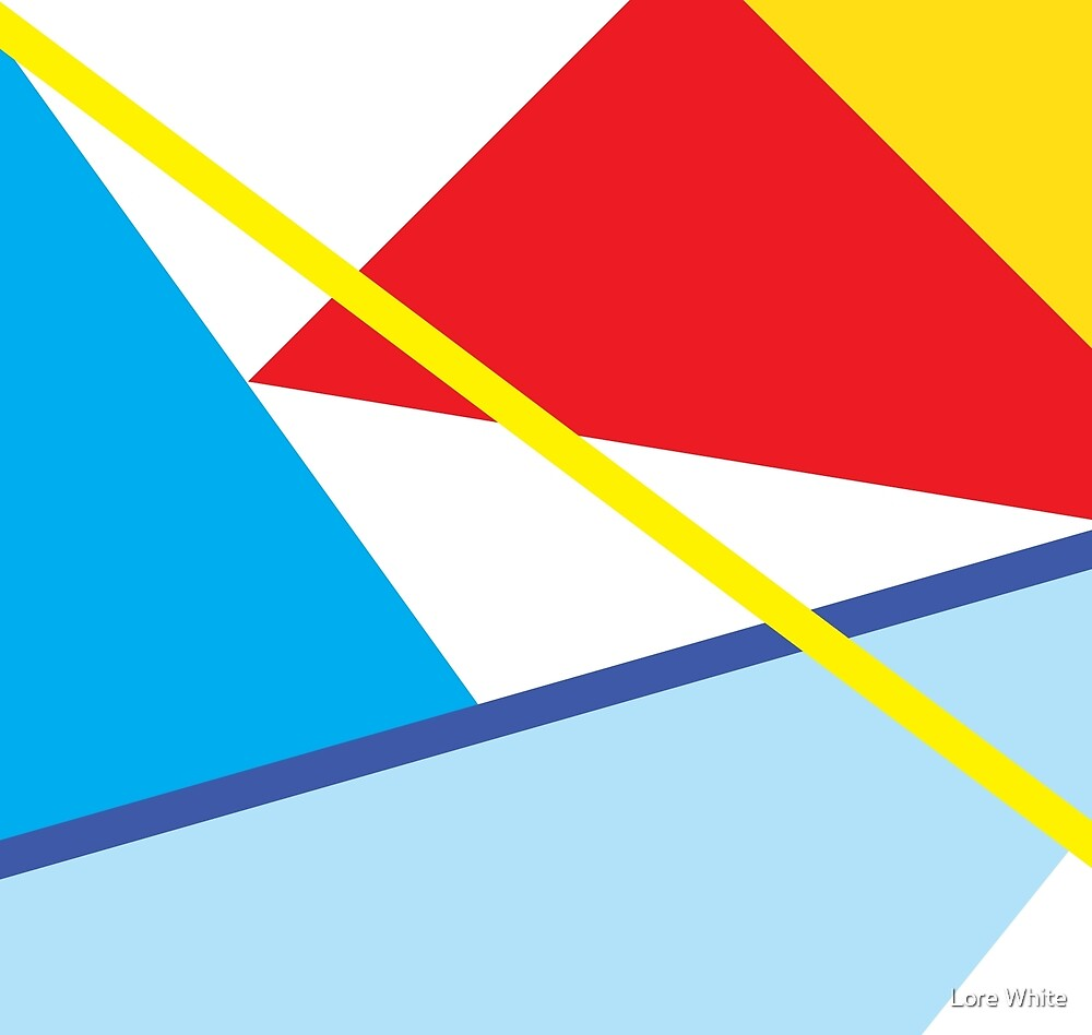 The Lake - Minimal Abstract Geometric Art by Lore White
