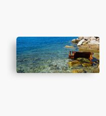 Seaside Decay Canvas Print