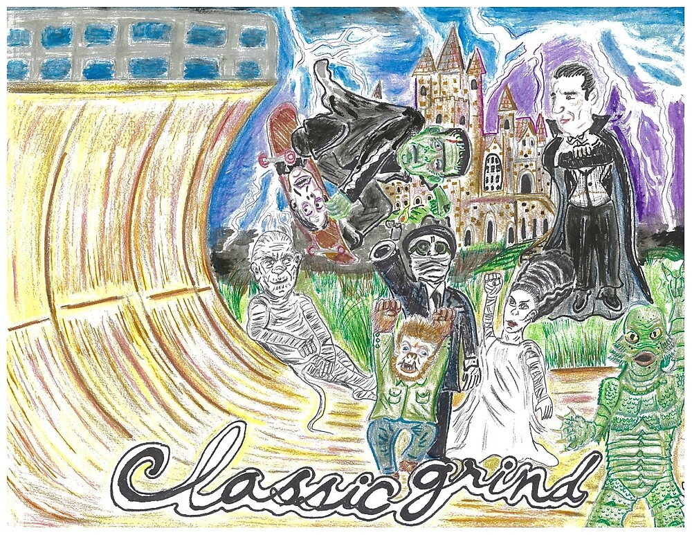 Classic Grind: Universal Monsters by Arthur Pena